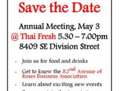 2018 Annual Meeting – May 3 at Thai Fresh